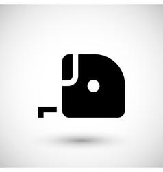 Tape measure icon vector