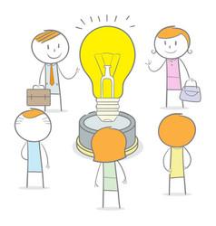 teamwork big idea vector image