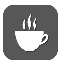 The coffee and cup icon Tea symbol Flat vector image