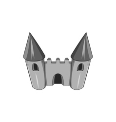 Toy castle icon black monochrome style vector image