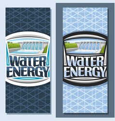 Vertical banners for water energy vector