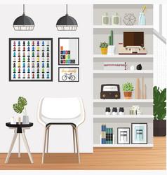 white living room vector image