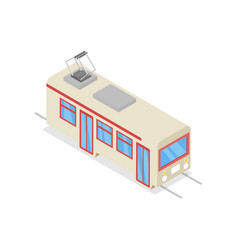 White trolley isolated isometric 3d icon vector