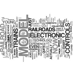 Your guide to controls electronic model railroad vector