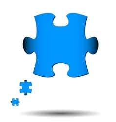 Abstract puzzle icon vector image vector image