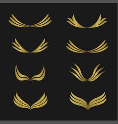 golden wings emblem vector image