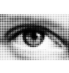 halftone eye illustration vector image