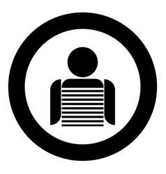 seaman black icon in circle vector image vector image