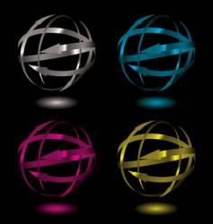 arrow metal ball vector image vector image