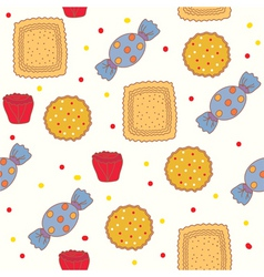 candies and cookies vector image vector image