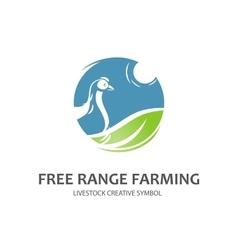 Free range farming symbol vector image vector image
