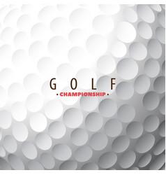 Golf ball close-up vector