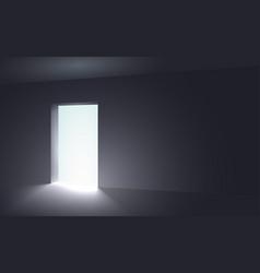 light in a dark room vector image