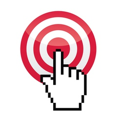 Target with cursor hand vecotr icon vector image vector image
