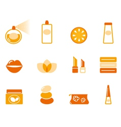 wellness spa and cosmetic icons vector image