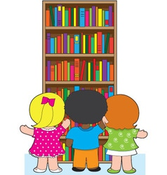 bookcase kids vector image