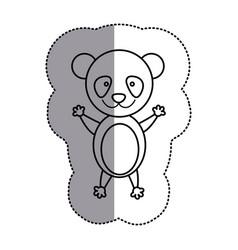contour teddy bear icon vector image
