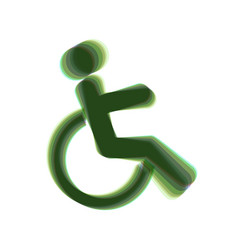 disabled sign colorful icon vector image vector image