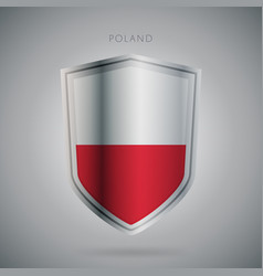 europe flags series poland modern icon vector image vector image