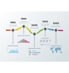 Road timeline infographic for workflow layout vector image vector image