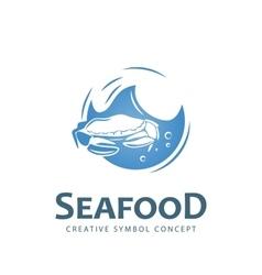 Seafood creative symbol vector image