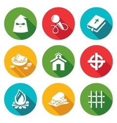 False religion sect Icons Set vector image vector image