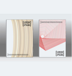 graphic geometric covers vector image