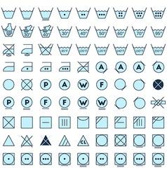 Laundry symbols line design vector image vector image
