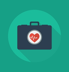 Medical Flat Icon First aid kit vector image