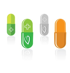 pill capsules vector image