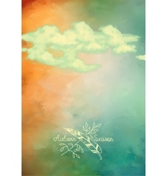 Sky clouds background vector image vector image