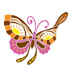 spring love butterfly vector image vector image