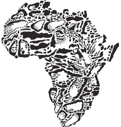 abstract symbol africa in clouded leopard vector image