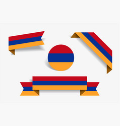 Armenian flag stickers and labels vector