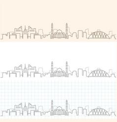 Astana hand drawn skyline vector