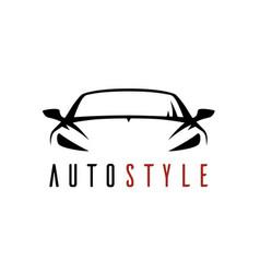 Auto shop car logo icon vector