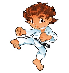 Baby Karate Player vector