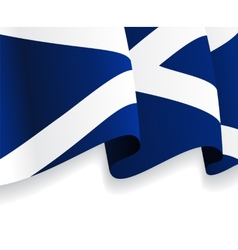Background with waving Scottish Flag vector