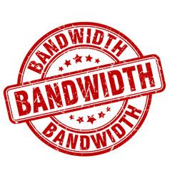 Bandwidth red grunge stamp vector