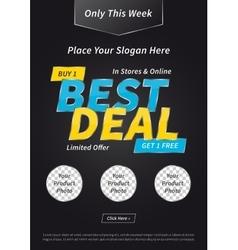 Banner Best Deal Buy Get Free vector image vector image