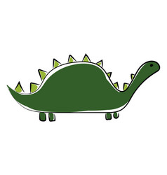 big green dinosaur on white background vector image