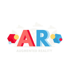 Big word ar banner for design concept augmented vector