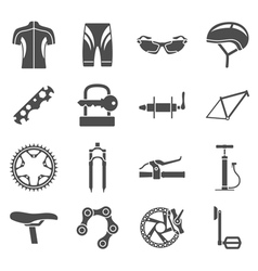 Bike icons vector