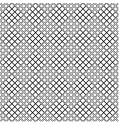 black and white abstract seamless diagonal square vector image