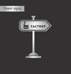 black and white style icon sign factory vector image