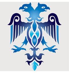 blue ottoman serial patterns sixteen vector image