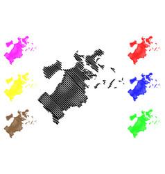 Boston city map vector