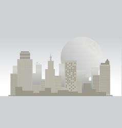 Building edifice city downtown town moon burg vector