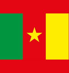 cameroon flag flat eps10 vector image
