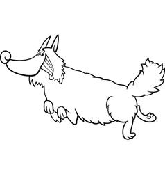 Cartoon shaggy dog for coloring book vector